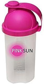 PINK SUN Proteína Agitadora 500ml (Rosa o Negro) Botella Mezcladora Proteinas Mujeres Pequeñas Rosa Sin BPA - Shaker Mixer Bottle Mini Whey Protein Shaker Pink