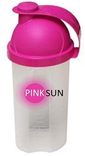 PINK SUN Shaker Mixer Fles 500ml Wei-eiwit Roze Deksel - Mini Whey Protein Shaker Pink Lid