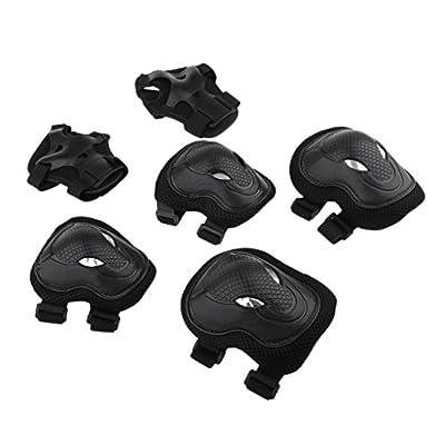 Injoyo 1 Set Skateboard Schutzausrüstung Schutzpolster Knieschoner Set für Damen oder Herren