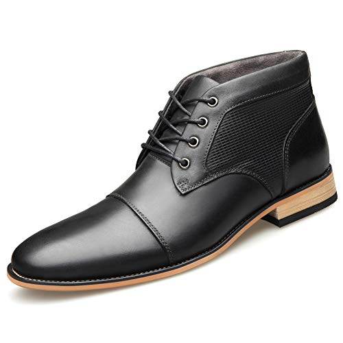 Shoe house Herren-Chukka-Stiefel, Brown Boots for Men, Black Boots, Herrenschuhe, Boot Mens Black, Lederstiefel,A,US11=EU45