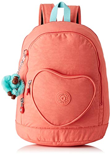 Kipling Heart Backpack Kinder-Rucksack, 32 cm, 9 Liter, Peachy Pink C