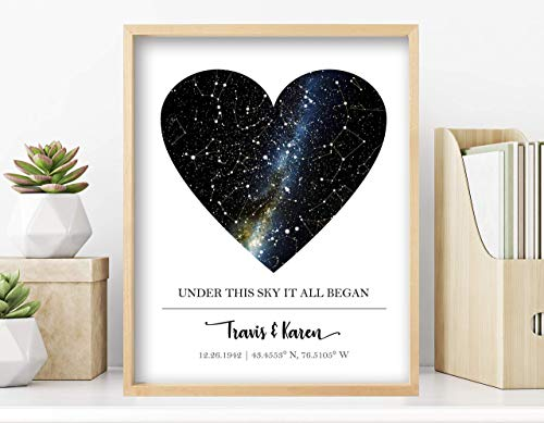 Custom Star Map - Personalized Special Occasion Gift (Multiple Sizes, Unframed Print, Star Constellation Map Wall Art, Great Gift - Special Occasion, Engagement Gift, Wedding Gift, Anniversary Gift)