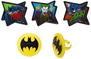 Batman - Pow Whooshhh and Joker - Cupcake Rings - 24 ct by DecoPac