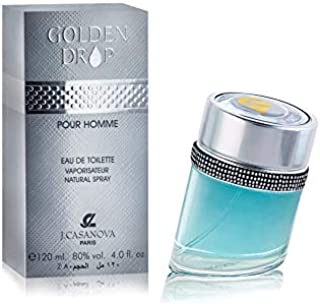 Golden Drop Parfum for Men by J.casanova, Eau de Toilette, 120ml