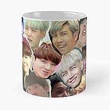 92Wear BTS Merch KPOP Jimin Jungkook Rap Monster Namjoon V Taehyung - Best 11 Ounce Cerámica Coffee Mug Gift