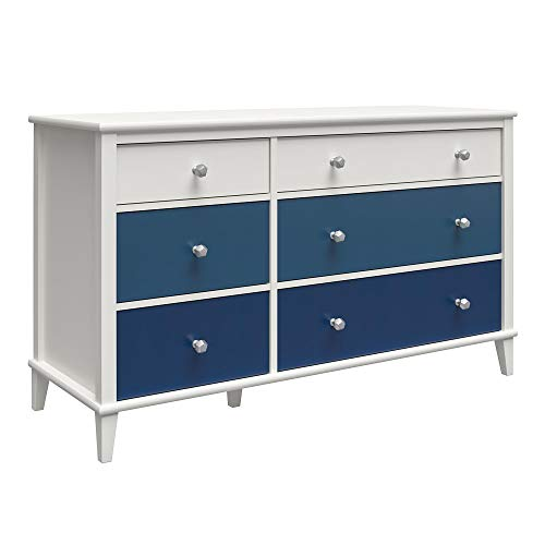 Little Seeds Monarch Hill Poppy White 6, Blue Drawers Dresser