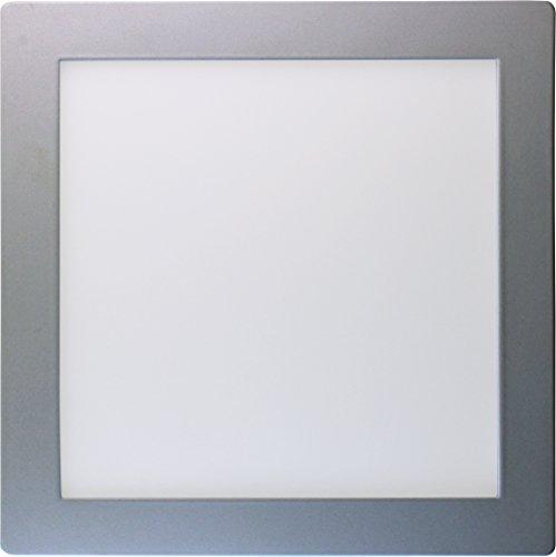 SevenOn LED 64323 Plafón de superficie LED cuadrado, aluminio mate, 18W, 120º, 1600 lúmenes, 4000K, blanco neutro, IP20. No regulable.