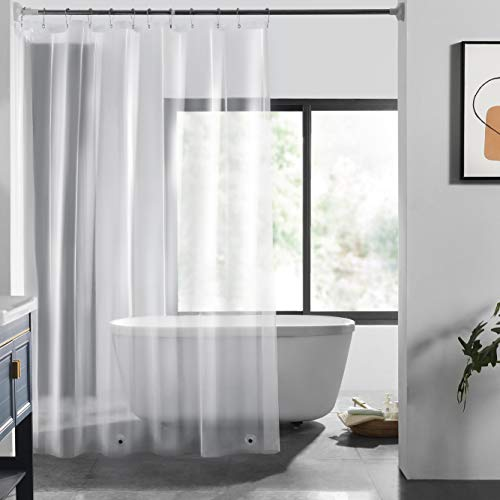 small size LOVTEX PEVA Shower Curtain Lining – 72 × 72 Lightweight Water Repellent 3G Transparent Lining for Bathroom Showers