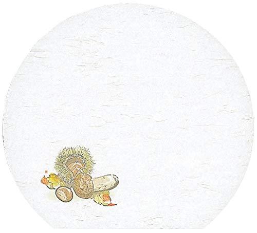 懐石まっと 尺3半月 枯淡 100枚入 松茸と栗 (8月〜10月) [ 約33.5 x 37cm ] 【 懐石マット 】   旅館 料亭 ホテル 宴会 懐石 和食 イベント 業務用