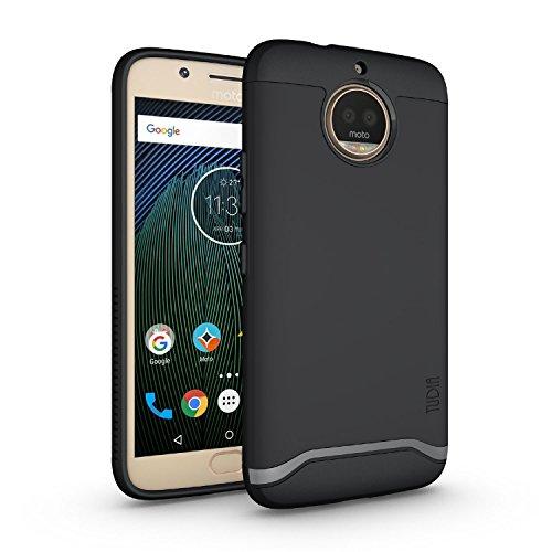 TUDIA Merge, Custodia Cover Protettiva a Doppio Strato Progettata per Motorola Moto G5S Plus (Nero)
