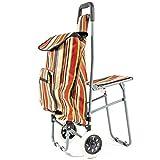 NRS Healthcare M78731 - Carrito de la compra con asiento plegable, ruedas...
