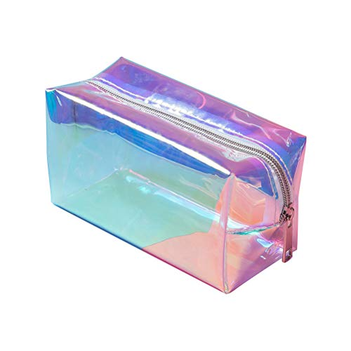 Kylewo Holografische Make-up-Tasche, Hologramm Mäppchen Stifthalter Make-up-Boxen Reißverschluss Comestic Storage Bag
