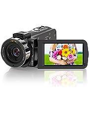ZORNIK Videocámarac,Vlogging cámara HD 1080P 36MP 16X Zoom Digital 3.0 Pulgadas LCD 270 Grados Rotativo Cámara YouTube Vlogging con Control Remoto