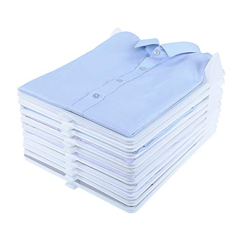 NNDQ Organizador de Armario y Carpeta de Camisas, bandejas de Ropa Resistentes, Carpeta de Camisetas, Documentos, divisores, Sistema de organización de Camisetas, tamaño Regular, Paquete de 10
