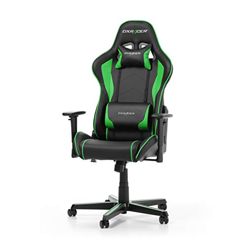 DXRacer Formula Series F08-NE Gaming Stuhl aus Kunstleder, Schwarz-Grün