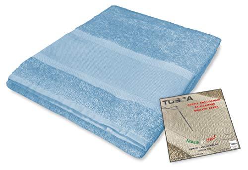 tex family Frottee-Handtuch-Set Tosca © Aida-Stoff zum Sticken, Kreuzstich 1+1 für Gesicht und Gäste, hellblau