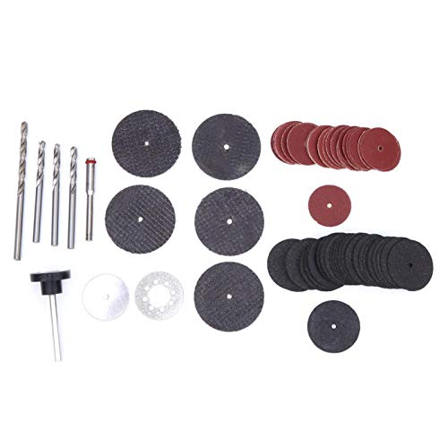 Cutting Polishing Disc, Chacerls Mini Drill Accessory 76pcs Rotary Tool Accessory Set Drill Bit Cutting Disc Polishing Sanding for Electric Grinder