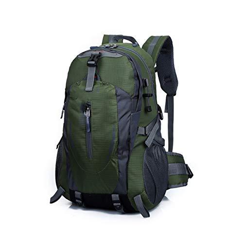 Yi-xir Mochila de diseño de moda para hombre y mujer, bolsa de deporte para viajes al aire libre, mochilas impermeables ligeras y duraderas (color: verde militar, tamaño: A)