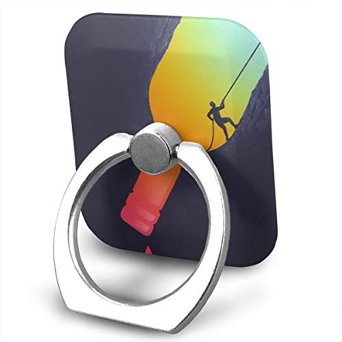 Creative Rock Climbing Art Painting Phone Finger Ring 360 Degree Rotation Foldable Set Compatible with Most of Smartphones Tablet and Case Sold