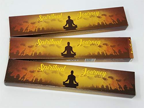 3 X Spiritual Journey Nouvelle Lune Bâtons d'encens avec gratuit souvenir badge par Sterling Effectz