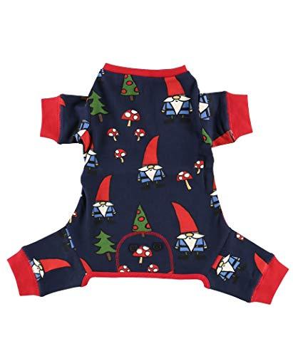 LazyOne Flapjacks, One-Piece Dog Sweater, Matching Family Pajamas for Dogs, Garden Gnome, Mushrooms (Small)