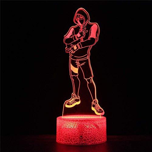 3D lamp Lighting LED USB A derivatives J Gift for Girl 3D Night Light for Kids 16 Colours Changing Acrylic LED Night Light Birthday Gift-Fortnite Derivatives K