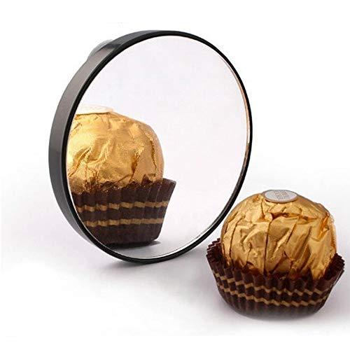 Fljen-CC Vergrößerungsspiegel, 15-fache Vergrößerung, zum Auftragen von Make-up, Pinzieren und Mitessern, runder Spiegel mit DREI Saugnäpfen für einfache Montage, 8,89 x 0,9 cm