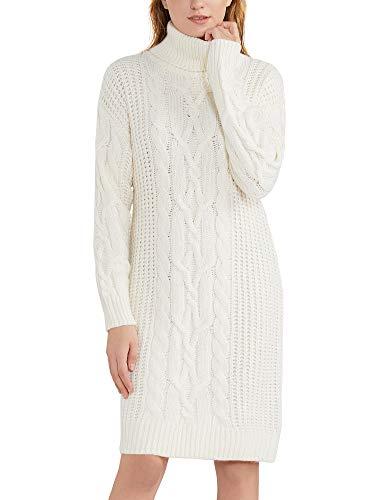 MessBebe Roll Neck sweter sukienka czarna damska żółw dekolt sweter sukienka z długim rękawem masywny kabel dzianinowy rolka dekolt sweter luźny wygodny jednolity kolor sweter sukienka UK jesień zima