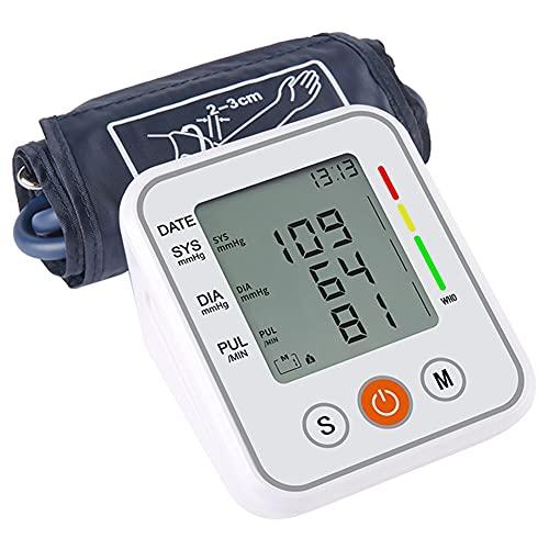 XXGJK Tensiómetro de Brazo, Medidor Tension Arterial Tensiómetro Digital Monitor de Presión Arterial Digital Brazalete Ajustable con Pantalla LCD para Padres Abuelos