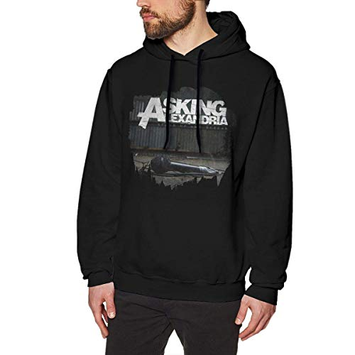 HKGJG Men's Asking Alexandria Stand Up and Scream Classic Hoodie Black Personality top