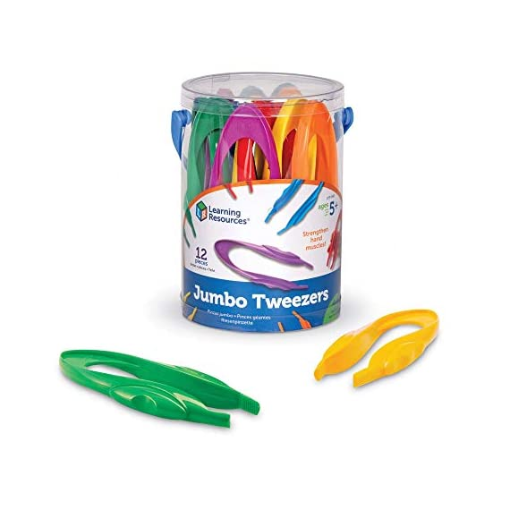 Learning-Resources-Jumbo-Tweezers-Sorting-Counting-Toddler-Fine-Motor-Skill-Development-Set-Of-12