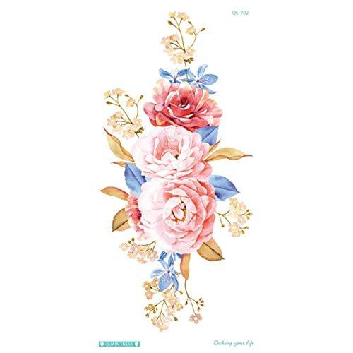 Hydz Persönlichkeit Mode Bunte Blumen Tattoo Frauen Neue wasserdichte temporäre Schwarze Tattoo Aufkleber Body Art, 4
