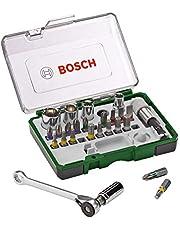 Bosch sats med skruvdragarbits och spärrnycklar i 27 delar (extra hård kvalitet, tillbehör borrskruvdragare och skruvdragare)