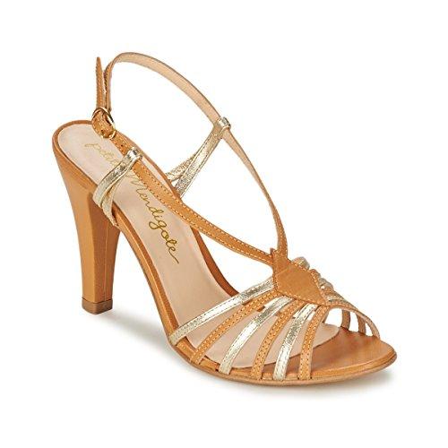 Petite Mendigote Tourterelle Sandali Donne Cognac/Oro - 40 - Sandali Shoes