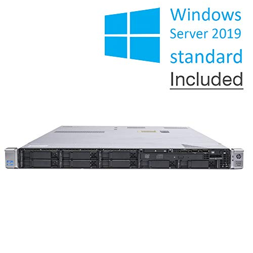 HP Proliant DL360p G8 - Juego de accesorios para raíles (2 x Intel Xeon8Core, 32 GB RAM, HDD de 2 x 600 GB, Ctrl Raid, 1U, Windows Server Standard 2019) (Reacondicionado certificado)