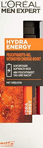 L'Oreal Men Expert Hydra Energy Gel Idratante Creatina Booster Idratante, Confezione da 1 (1 x 50 gr.)
