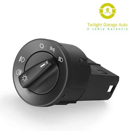 Twilight Garage Auto Scheinwerferschalter Schwarz Autoscheinwerfer Nebelscheinwerfer Lichtschalter 1C0941531A für PASSAT 3B 96- GOLF IV 4 BORA POLO