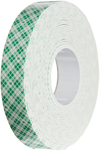 3M 4026 Natural Polyurethane Double Coated Foam Tape, 0.75' width x 5yd length (1 roll)