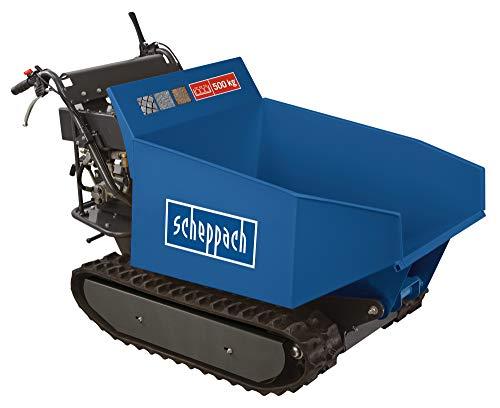 scheppach Dumper DP6500-500kg | 8 PS | 270ccm Kettendumper Benzin Muldenkipper Mini-Dumper Motor-Schubkarre Raupendumper
