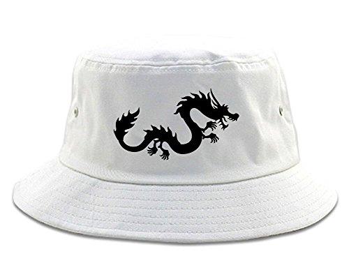 Chinese Dragon Bucket Hat White