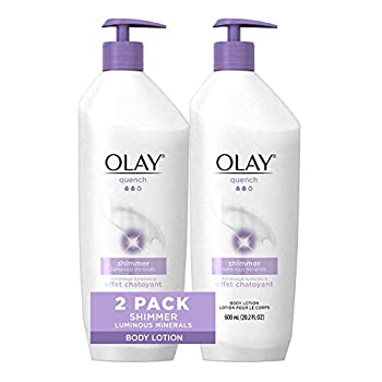 Olay Quench Shimmer Body Lotion 20.2 fl oz  Pack of 2  Packaging May Vary