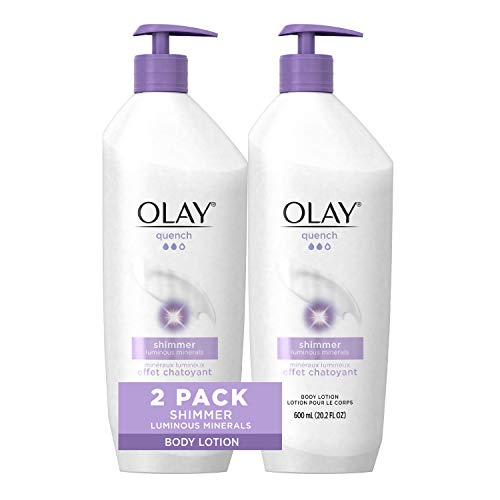 Olay Quench Shimmer Body Lotion 202 fl oz Pack of 2 Packaging May Vary