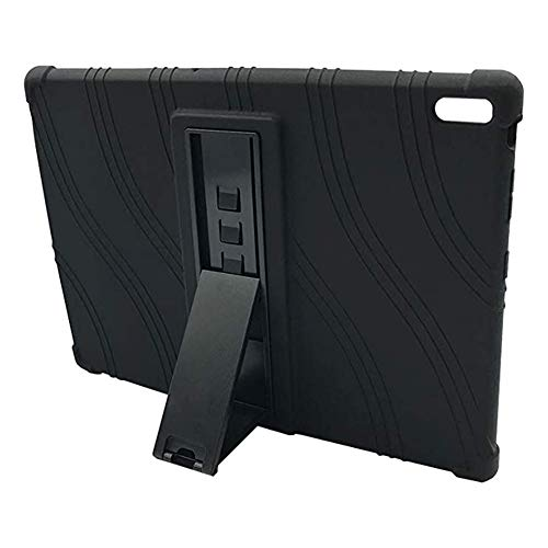BOZONLI Case for Lenovo Tab E10 TB-X104/N 10.1 inch Tablet, Soft Silicone Shockproof Protective Case Cover with Kickstand, Black