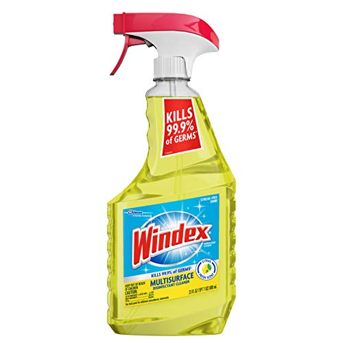 Windex Multi-Surface Cleaner and Disinfectant Spray Bottle, Scent, Citrus Fresh, 23 Fl Oz (Pack of 1)