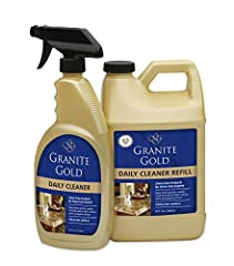 ULTIMATE VALUE PACK – Double up on Granite Gold supplies and save yourself some time and money. Each order includes (1) 24-ounce spray bottle and (1) 64-ounce refill container. GORGEOUS, STREAK FREE RESULT – This cleaning solution never leaves behin...