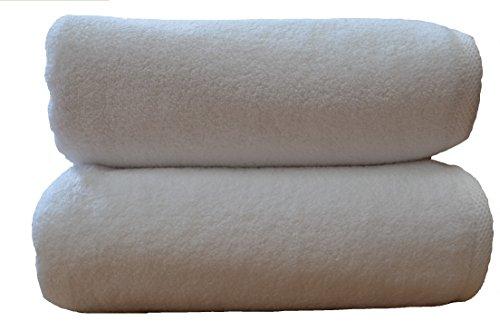 Toallas de baño de Luxe, 850gr/m², 100% algodón egipcio (algodón peinado e hilos cero torción., 100 x 150 cm