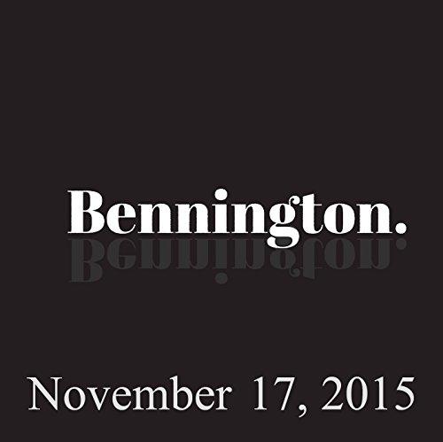 Bennington, November 17, 2015 audiobook cover art