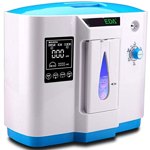 AUKLM oxygen machine for home useAir Purifier Oxygen Generator Portable Oxygen Concentrator Generator for Home And Travel Oxygen Airflow 1L-5L/M (110V/220V),Medical Edition