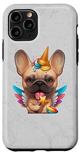 iPhone 11 Pro Fawn French Bulldog Ice Cream Unicorn Case