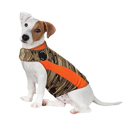 ThunderShirt Polo Dog Anxiety Jacket | Vet Recommended Calming Solution Vest for Fireworks, Thunder, Travel, & Separation | Camo, Small